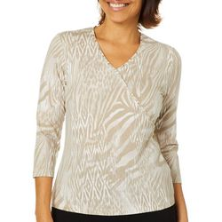 Hearts of Palm Petite Must Haves III Surplice Animal Top