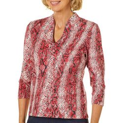 Hearts of Palm Petite Must Haves III Snake Print Top
