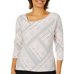 Hearts of Palm Petite Must Haves III Asymmetrical Neck Top
