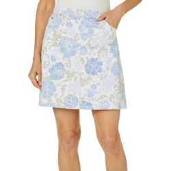 Hearts of Palm Petite Natural Wonders Floral Print Skort