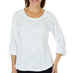 Hearts of Palm Petite Catch My Drift Palm Shower Top