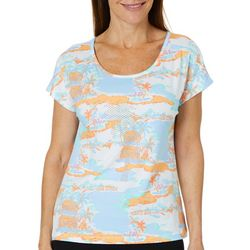 Hearts of Palm Petite Sun In Sight Embellished Island Top