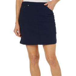 Hearts of Palm Petite Essentials Solid Tech Stretch Skort