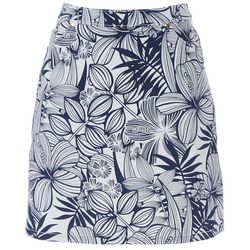 Hearts of Palm Petite Stripes And Sails Tropcial Skort