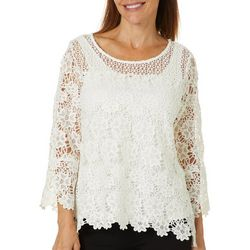 Hearts of Palm Petite Rue De La Rue Lace Top