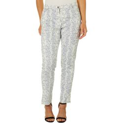 Hearts of Palm Petite Steeling The Scene Animal Print Pants
