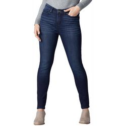 Lee Petite Solid Distressed Skinny Leg Jeans