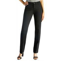 Lee Petite Solid Flex Motion Straight Leg Pants