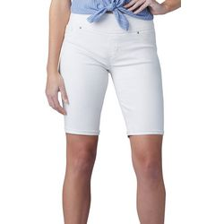 Lee Petite Solid Sculpted Pull On Bermuda Shorts