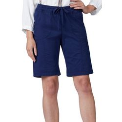 Lee Petite Flex Pull On Cargo Bermuda Shorts
