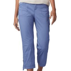 Lee Petite Flex-To-Go Solid Relaxed Fit Pull On Cargo Capris