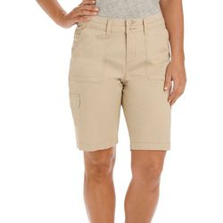 Lee Petite Avey Relaxed Fit Cargo Bermuda Shorts