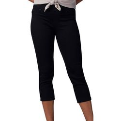 Lee Petite Pull On Solid Stretch Capris