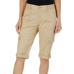 Lee Petite Relaxed Fit Knit Waist Cargo Skimmer Shorts