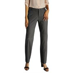 Lee Petite Relaxed Fit Straight Leg Plaid Pants