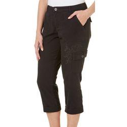Lee Petite Solid Fashion Cargo Crop Pants
