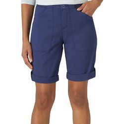 Lee Petite Solid Flex-To-Go Utility Bermuda Shorts