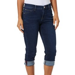 Lee Petite Solid Kyla Cuffed Denim Capris