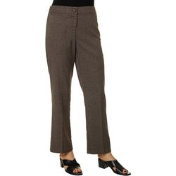 Briggs Petite Houndstooth Print Relaxed Pants