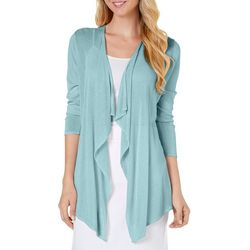 Nue Options Petite Solid Flyaway Cardigan