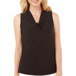 Nue Options Petite Drape Neck Tank Top