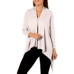 Nue Options Petite Solid Knit Waterfall Cardigan