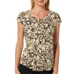 Nue Options Petite Day to Night Floral Field Cap Sleeve Top