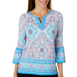 Ruby Road Favorites Petite Martinique Paisley Print Top