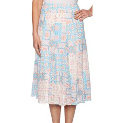 Ruby Road Favorites Petite Printed Midi Skirt