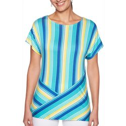Ruby Road Favorites Petite Directional Striped Top