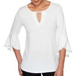 Ruby Road Favorites Petite Embellished Crepe Knit Top