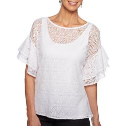 Ruby Road Favorites Petite Diamond Lace Layered Top