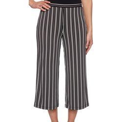 Ruby Road Favorites Petite Pin Stripe Gaucho Pants