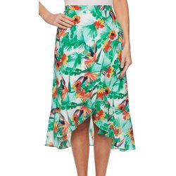 Ruby Road Favorites Petite Floral Print Maxi Skirt