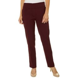 Ruby Road Favorites Petite Solid Tech Stretch Pull On Pants