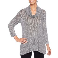 Ruby Road Favorites Petite Cowl Neck Shimmer Sweater