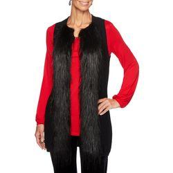 Ruby Road Favorites Petite Faux Fur Longline Vest