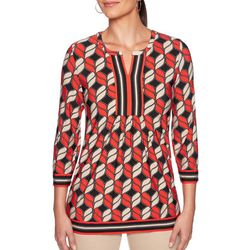 Ruby Road Favorites Petite Abstract Print Tunic Top