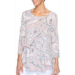 Ruby Road Favorites Petite Paisley Print Tunic Top