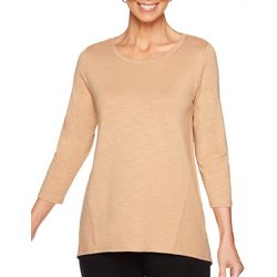 Ruby Road Favorites Petite Solid Long Sleeve Top