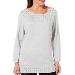 Ruby Road Favorites Petite Embellished Sweater