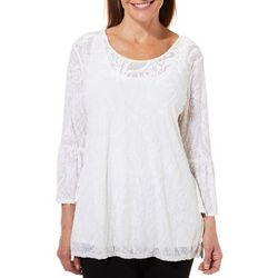 Ruby Road Favorites Petite Paisley Velvet Tunic Top