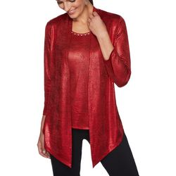 Ruby Road Favorites Petite Solid Foil Duet Top