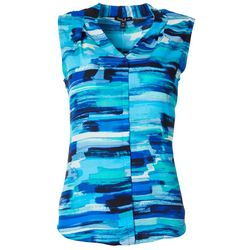 Sami & Jo Petite Brushstroke Striped Sleeveless Top