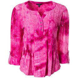 Sami & Jo Petite Sequin Fiesta Pleated Roll Tab Top