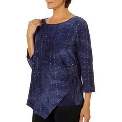 Sami & Jo Petite Embellished Fiesta Ruched Side Tie Top