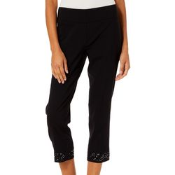 Zac & Rachel Petite Solid Jewel Embellished Pants