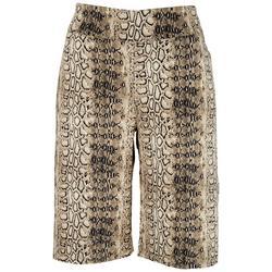Petite Pull-On Snake Skimmer Shorts