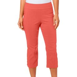 Petite Solid Cross Detail Hem Capris