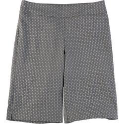 Petite Geometric Print Skimmer Shorts